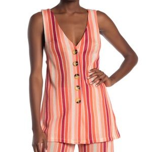 NWT Free People Sunset Bridget Stripe Tank ONLY